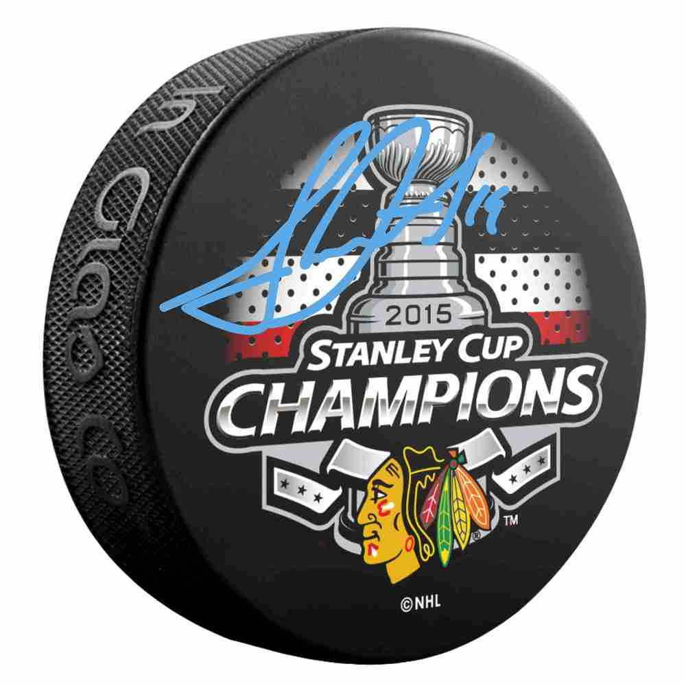 Jonathan Toews - Signed Chicago Blackhawks 2015 Stanley Cup Champions Puck