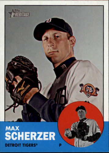 Photo of 2012 Topps Heritage #140 Max Scherzer