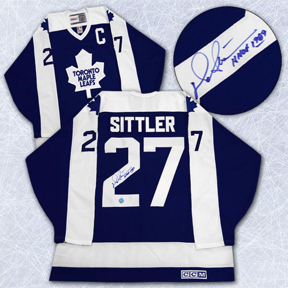 Darryl Sittler Toronto Maple Leafs Autographed Retro CCM Hockey Jersey
