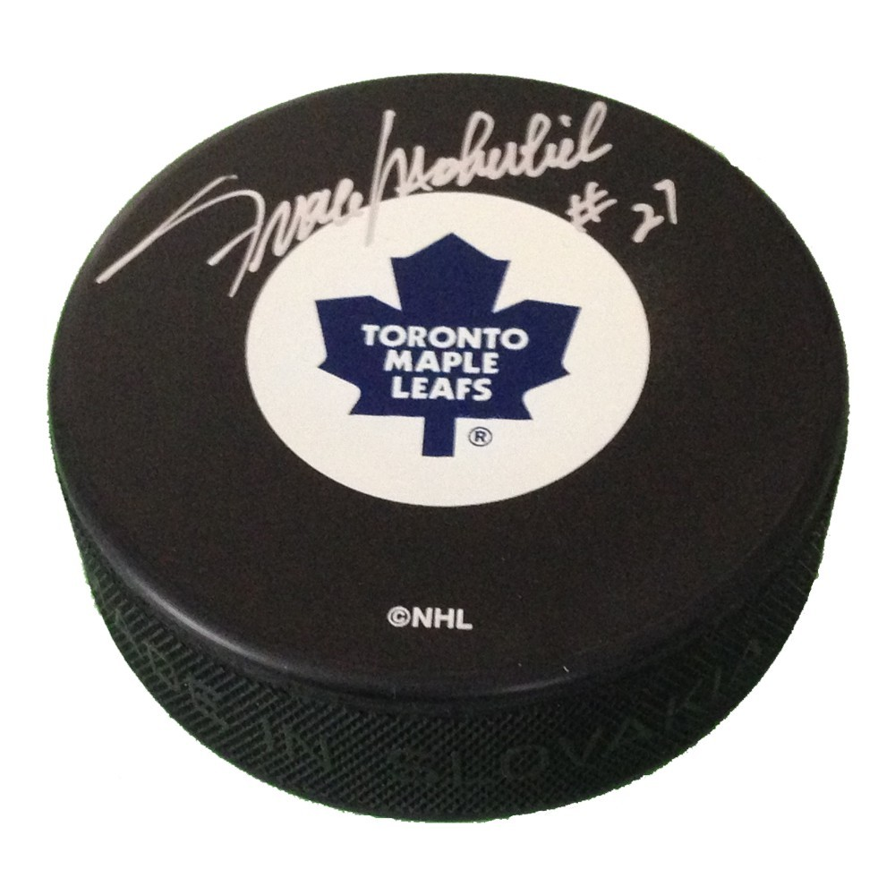 Frank Mahovlich Autographed Toronto Maple Leafs Game Puck