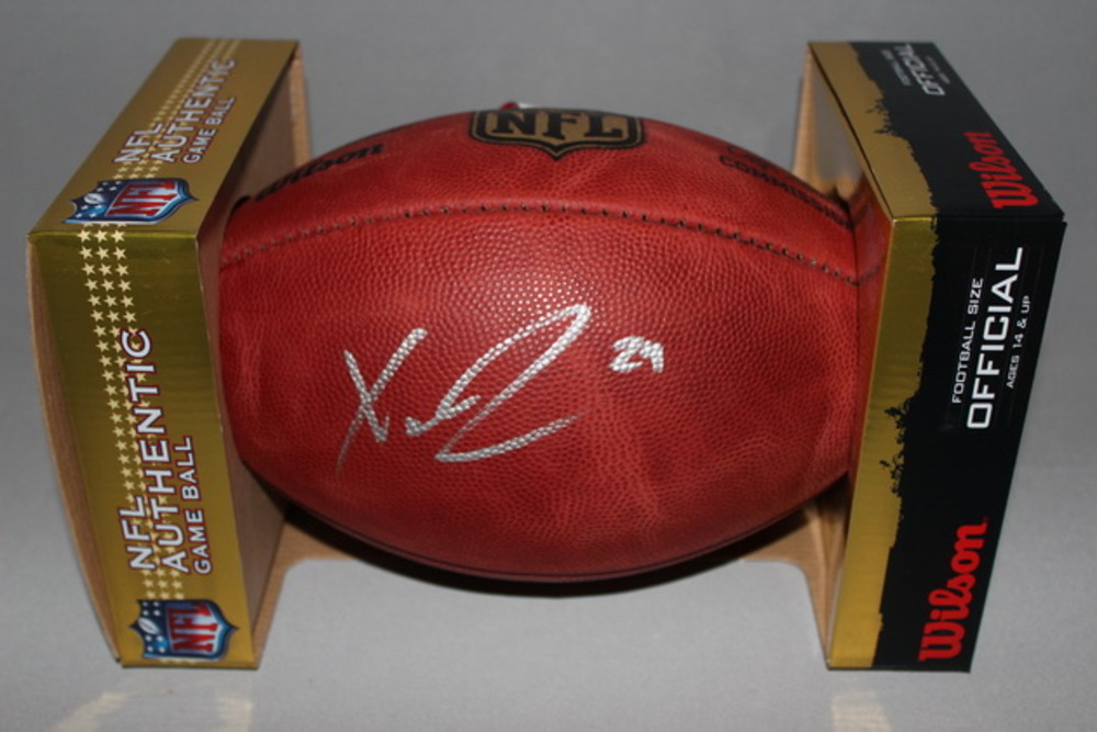 NFL - VIKINGS XAVIER RHODES SIGNED AUTHENTIC FOOTBALL