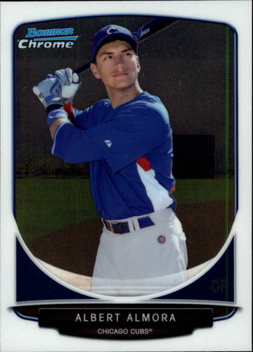 Photo of 2013 Bowman Chrome Draft Top Prospects #TP4 Albert Almora Chicago Cubs post-season