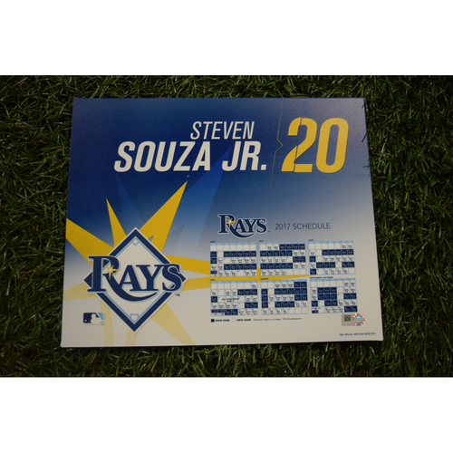 2017 Team-Issued Locker Tag - Steven Souza Jr.
