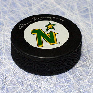 Cesare Maniago Minnesota North Stars Autographed Hockey Puck