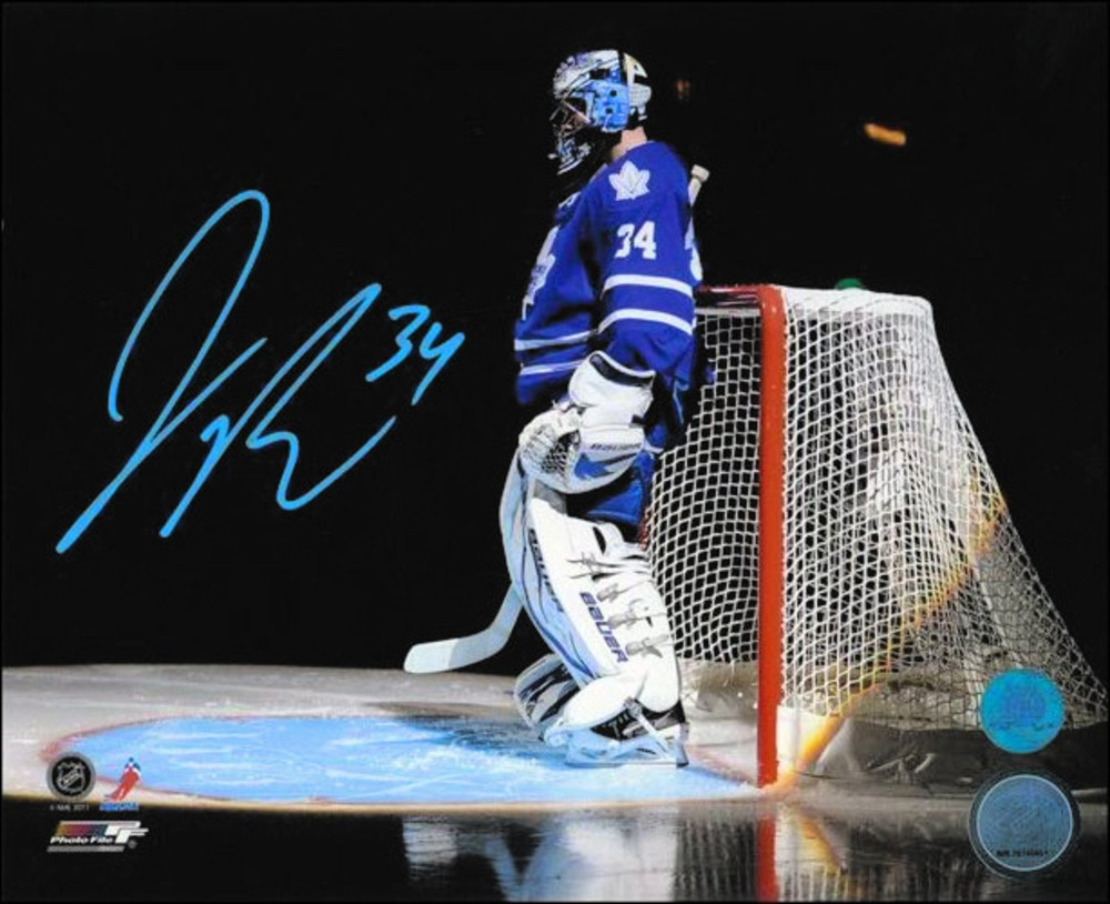 JAMES REIMER Autographed Toronto Maple Leafs 8x10 Introduction Spotlight Photo