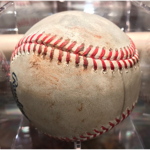 Photo of Felix Hernandez v Mike Trout Game-Used Strikeout April 8th 2017