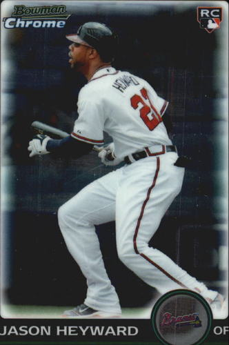 Photo of 2010 Bowman Chrome Draft #BDP40 Jason Heyward Rookie Card Cubs post-season