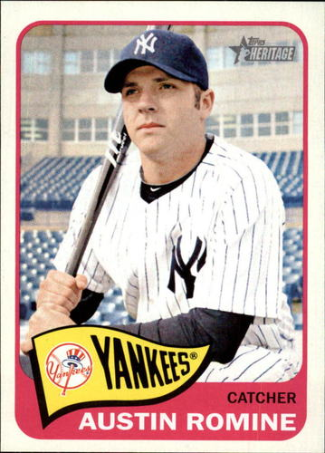 Photo of 2014 Topps Heritage #77 Austin Romine -- Yankees post-season