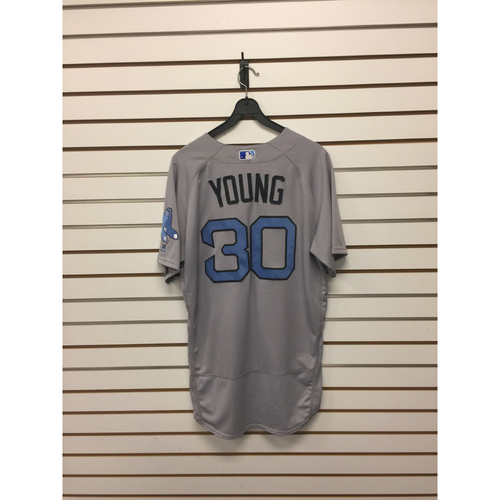 Photo of Chris Young Game-Used June 18, 2017 Road Jersey