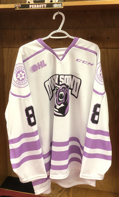 Andrew Perrott Hockey Fights Cancer Jersey