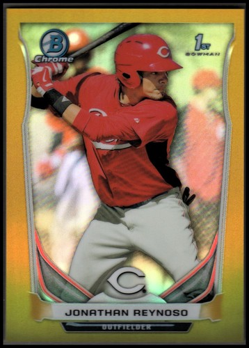 Photo of 2014 Bowman Chrome Prospects Series 2 Gold Refractors #BCP37 Jonathan Reynoso