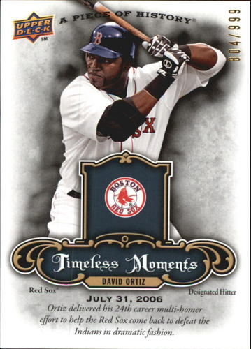 Photo of 2009 UD A Piece of History Timeless Moments #TMDO David Ortiz