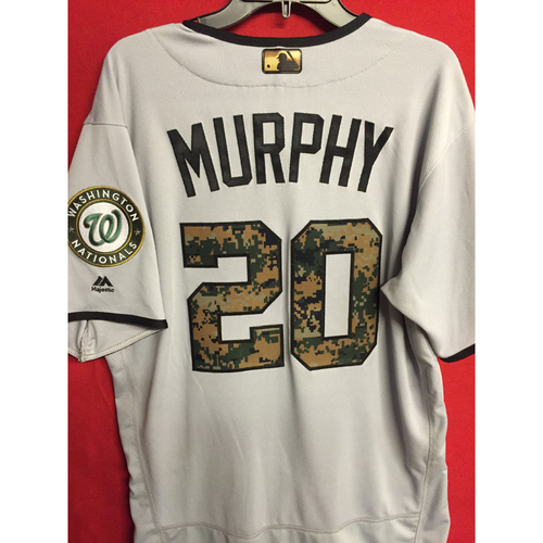 Photo of Game-Used Memorial Day Jersey: Daniel Murphy