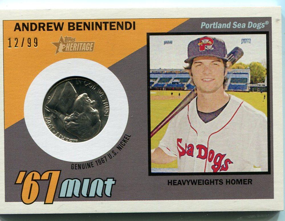 2016 Topps Heritage Minors '67 Mint Relics Andrew Benintendi 12/99