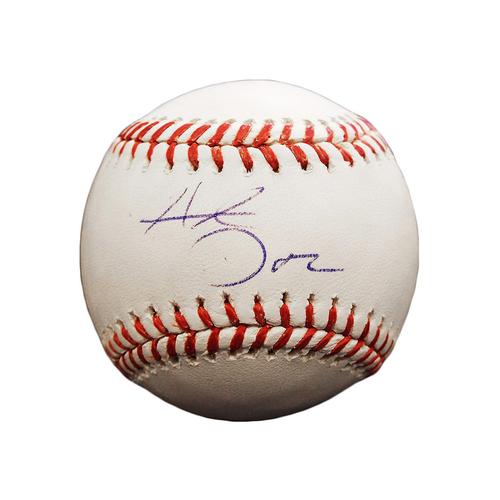 Hunter Dozier Autographed Baseball