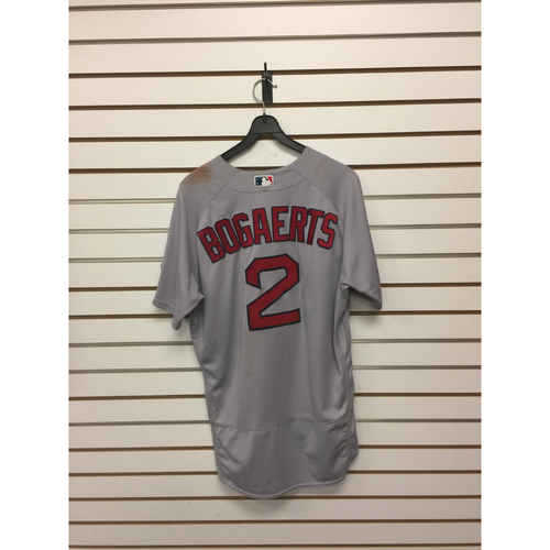 Photo of Xander Bogaerts Team-Issued August 21, 2017 Road Jersey