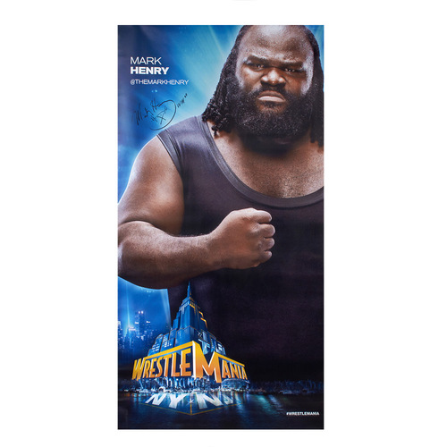 Mark Henry SIGNED WrestleMania 29 Superstore Wall Art