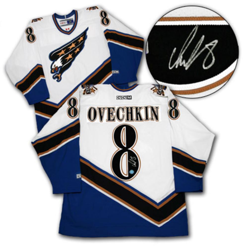 ALEX OVECHKIN Washington Capitals SIGNED NHL Rookie Jersey