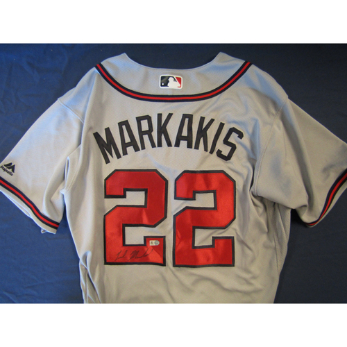 Photo of Braves Charity Auction - Nick Markakis Autographed Jersey