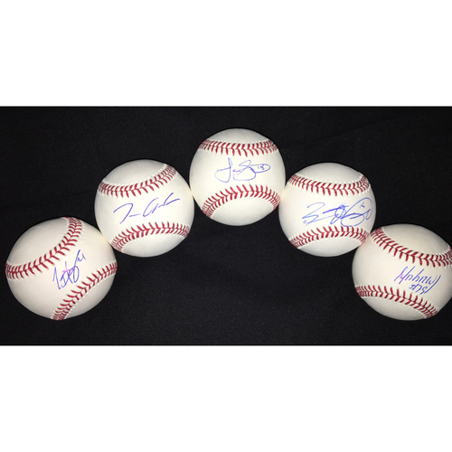 Photo of Infield Autographed Baseballs: Jose Abreu, Brett Lawrie, Tyler Saladino, Tim Anderson, and Todd Frazier