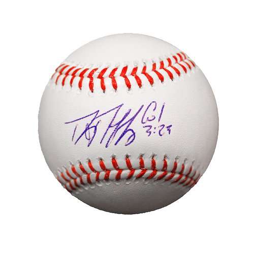 Danny Duffy Autographed Baseball