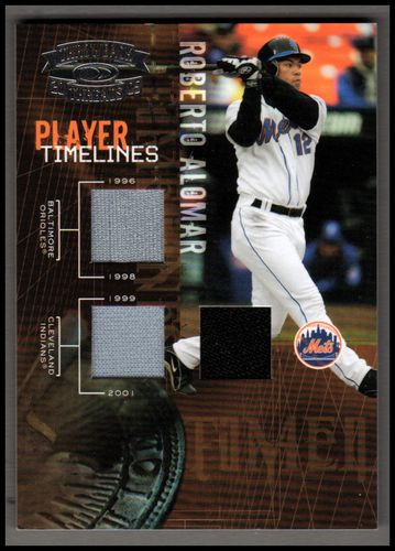 Photo of 2005 Throwback Threads Player Timelines Material #33 R.Alomar O's-Ind-Met/250