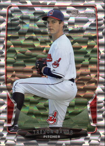 Photo of 2013 Bowman Silver Ice #18 Trevor Bauer -- Indians post-season