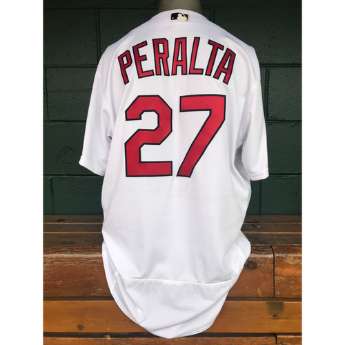 Photo of Cardinals Authentics: Jhonny Peralta Game Worn Home White Jersey