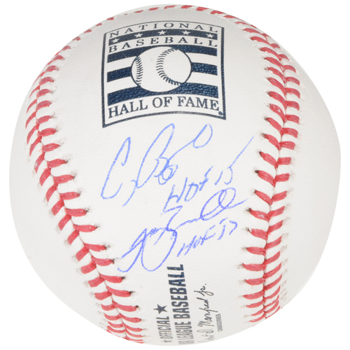 Photo of Jeff Bagwell and Craig Biggio Houston Astros Autographed Baseball with HOF Inscriptions