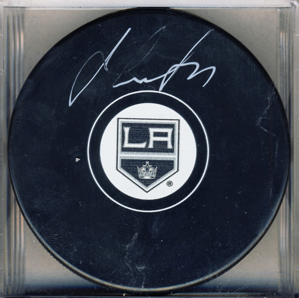 Jeff Carter Los Angeles Kings Signed Autograph Model Hockey Puck *Autograph Slightly Streaky*