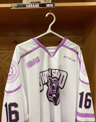 Logan LeSage Hockey Fights Cancer Jersey