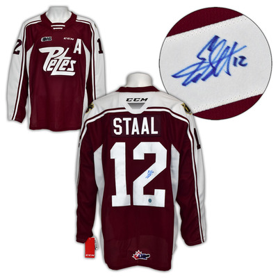 Eric Staal Peterborough Petes Autographed CCM CHL Replica Hockey Jersey
