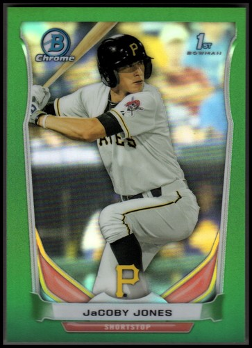 Photo of 2014 Bowman Chrome Prospects Series 2 Green Refractors #BCP68 JaCoby Jones