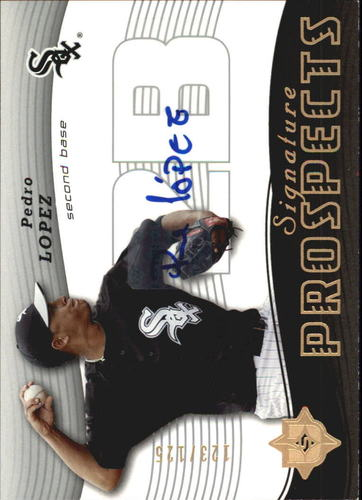 Photo of 2005 Ultimate Signature #165 Pedro Lopez AU RC