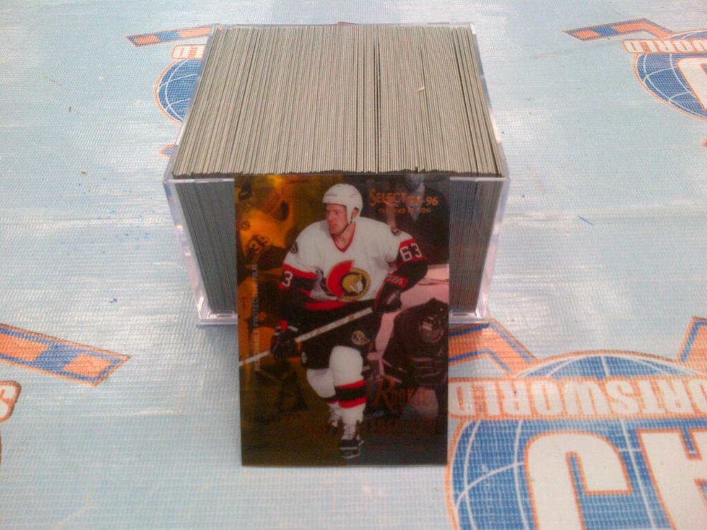 1995-96 SELECT CERTIFIED Complete Hockey Card Set *1-144* *ALFREDSSON, DOAN, BERTUZZI ROOKIE CARDS*