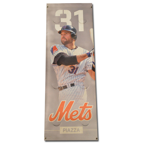 Photo of Mike Piazza #31 - Citi Field Banner - 2016 Season