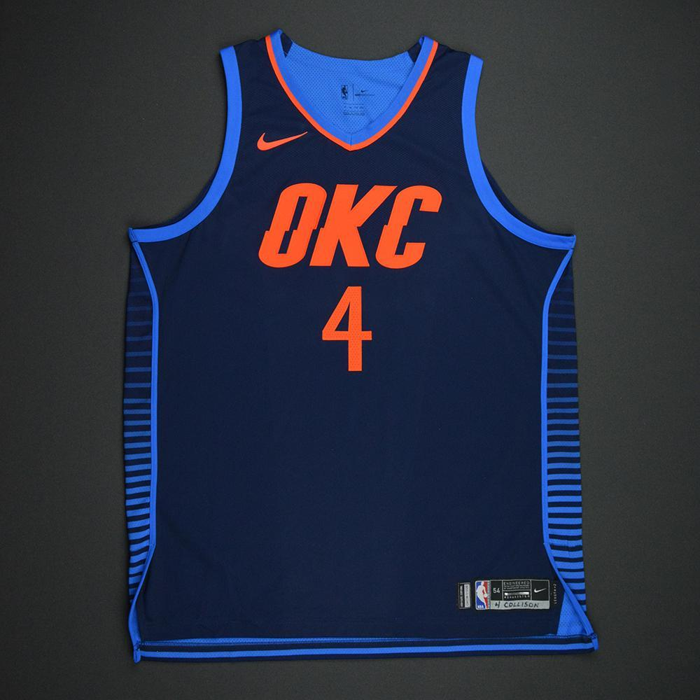Nick Collison - Oklahoma City Thunder - Statement Game-Worn Jersey - Dressed, Did Not Play - 2017-18 Season