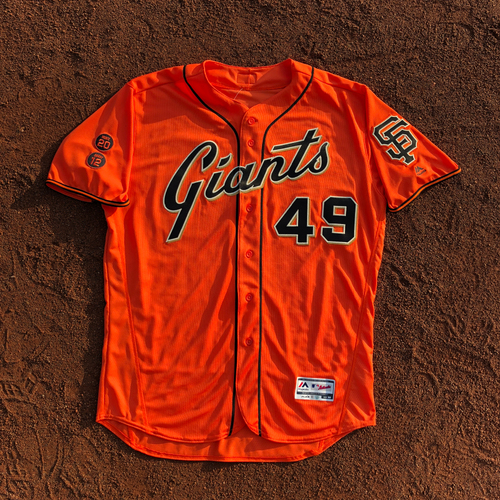 Photo of San Francisco Giants - HOLIDAY STEALS - 2016 Game-Used Jersey - worn by #49 Javier Lopez on 9/30/16 - (Size: 50)
