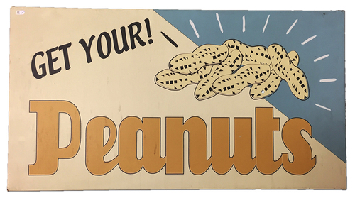 Photo of Wrigley Field Collection - 'Get Your! Peanuts' Concourse Sign - JB097780
