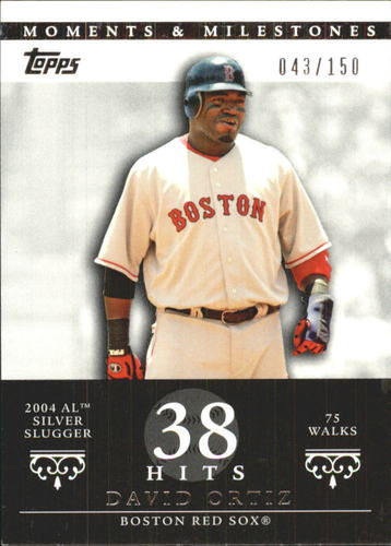 Photo of 2007 Topps Moments and Milestones #103-38 David Ortiz/BB 38