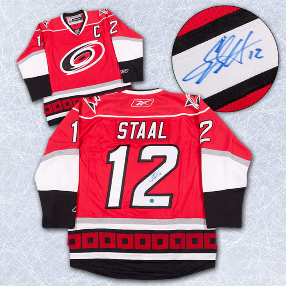 Eric Staal Carolina Hurricanes Autographed Reebok Premier Hockey Jersey *Minnesota Wild*