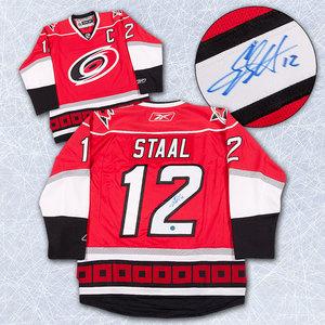 Eric Staal Carolina Hurricanes Autographed Reebok Premier Hockey Jersey *New York Rangers*