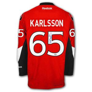 Erik Karlsson Ottawa Senators RBK Premier Autographed Jersey