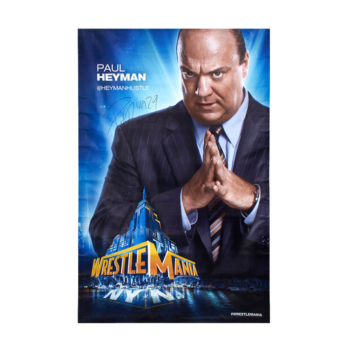 Paul Heyman SIGNED WrestleMania 29 Superstore Wall Art
