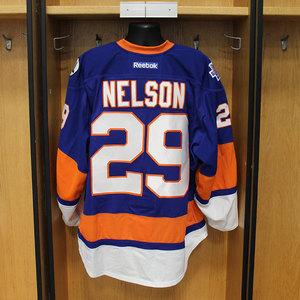 Brock Nelson - Game Worn Home Jersey - 2015-16 Season - New York Islanders