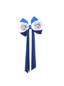 Women's Streamer Hair Bow Blue and White by Bulletin