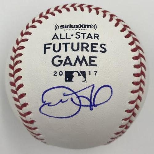 Photo of Derek Fisher Autographed 2017 Futures Game Logo Baseball