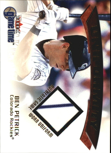 Photo of 2001 Fleer Game Time Uniformity #15 Ben Petrick