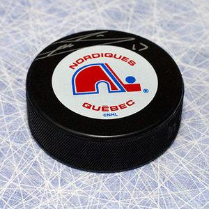 Mats Sundin Quebec Nordiques Autographed Hockey Puck