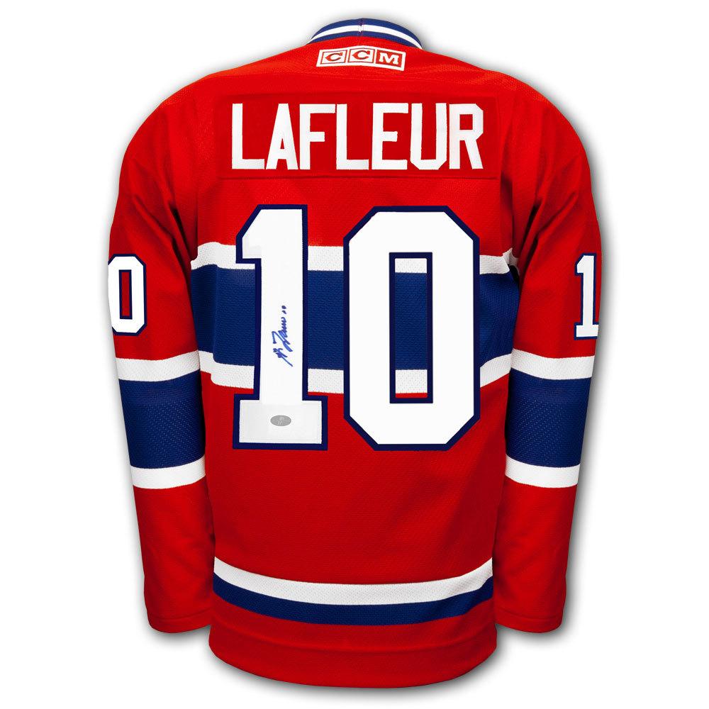 Guy Lafleur Montreal Canadiens CCM Autographed Jersey